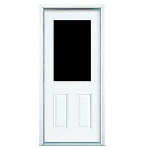 """32"""" Exterior Steel Door with Window & Screen"""