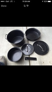 5 Pc Camping Pot Set for a Family
