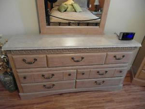 5 pc dresser set with faux marble top