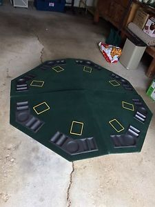8 Person Poker Table Top with Carrying Case
