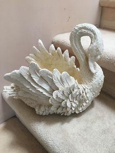 Beautiful Resin Swan