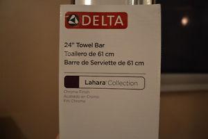 "Brand New in Box - Delta 24"" Towel Bar - Chrome Finish"