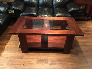 Coffee table and two side tables