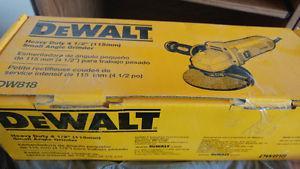 """DeWALT 4 1/2"""" Angle Grinder - BRAND NEW"""