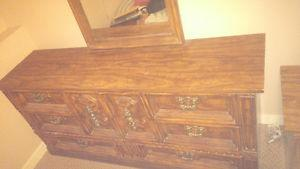 Dresser side table and mirror for sale