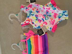 GIRLS 3/6 MONTH BATHING SUITS