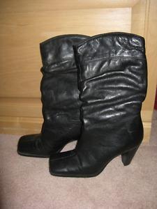 Genuine Hush Puppie Blk Boots