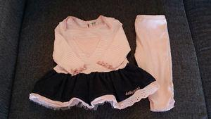 Guess Baby 2 pce outfit sz 6-9 months