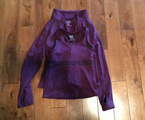 Gym Top with Matching Hoodie. Size 8