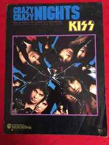KISS Crazy Crazy Nights SHEET MUSIC  Warner Bros
