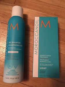 Moroccan oil dry shampoo and oil treatment for light hair