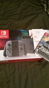 Nintendo Switch with Zelda/1yr warranty $450