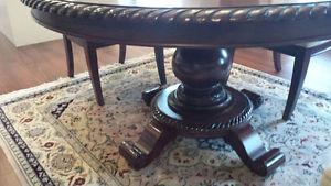 Plantation style mahogany dining set