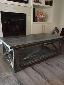 Rustic, Handmade, Farmhouse Style Coffee Table