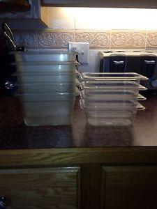 Small plastic food prep bins