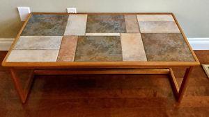 Teak and Tile Coffee Table