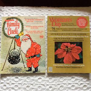 Vintage Lot December (Christmas) Family Circle and Woman's