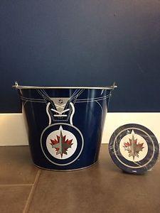 Winnipeg Jets Ice Bucket and Coasters