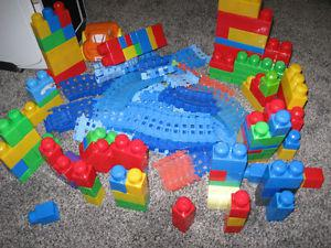 megablocks and other building toys