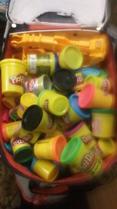 42 Play dough most unused and accessories