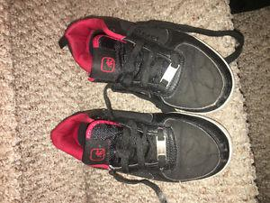 Boys size 3 sneakers and size 4 dress shoes