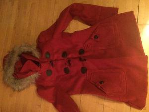 Brand new red ladies dress coat sz small call