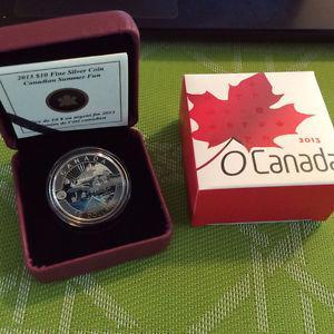 Canada  Summer Fun O Canada Series 1/2 oz.999 Silver