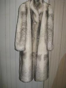 Imitation Fur Coat and Mother of the Bride Dress
