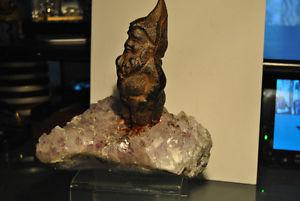 Large Spirit Quartz Stone Figure Leprechaun Cast