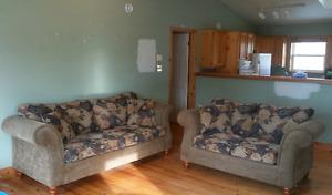 Matching sofa and loveseat in very good condition