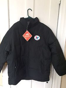 Mens XL down filled jacket. New with tags Valvoline