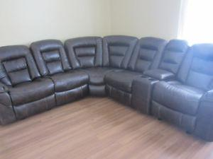 Recliner sectional sofa for sale (7 piece set)