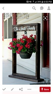 Rustic decorative custom built flower pot hanger.....