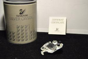 SWAROVSKI SILVER CRYSTAL FROG ART. WITH BOX CERTIFICATE