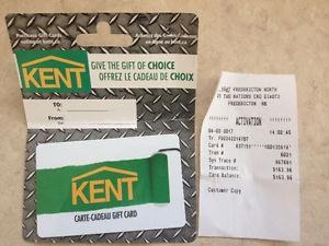 $163 Kent gift card