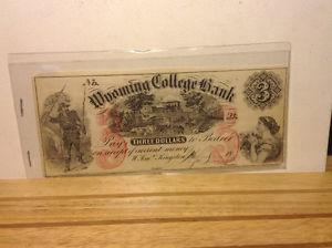 $ 3 DOLLAR BILL CONFEDERATE STATES CURRENCY CIVIL WAR