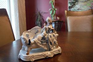 Antique, Mint condition blue and white Lady's