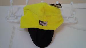 BRAND NEW: HI VIS FLC EAR FLAP HAT W/DRP DOWN MASK (YELLOW)