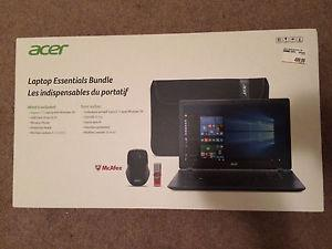 "Brand new acer laptop 15.6"" and free hp printer"