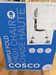 Brand new unopened Cosco simple fold High Chair