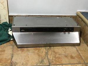 Broan Stainles Steel range light/exhaust vent hood