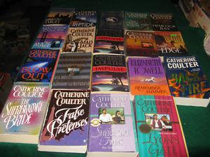 Catherine Coulter boosk $1 each or $15 for the lot