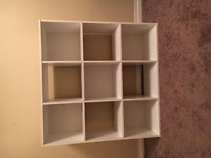 Cube organizer and pine shelf OBO