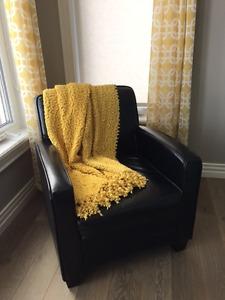Dark Brown Club Chair