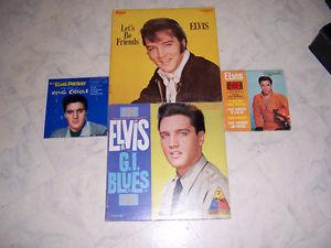 FOR SALE ELVIS THE KING RECORD.S &2,45s, NICE,