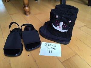 Girls shoes/boots size 9 - 11