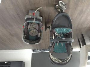 Graco stroller and car seat - botany collection
