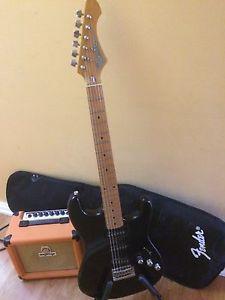 Guitar and amp package orange amp stinger guitar