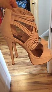 Izabella Rue Strappy Light Pink High Heels