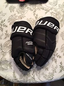 Kids hockey gloves and elbow pads